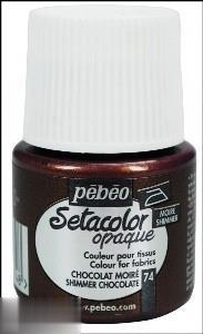 رنگ پارچه مات Pebeo 295074 45ml Shimmer Chocolate 74