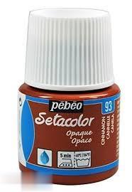 رنگ پارچه مات Pebeo 295093 45ml Cinnamon 93