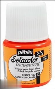 رنگ پارچه شفاف Pebeo 329032 45ml Flourescent Orange 32