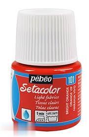 رنگ پارچه شفاف Pebeo 329101 45ml Vivid Orange 101