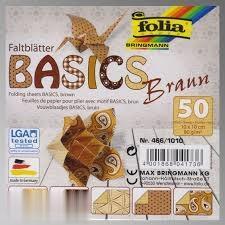 كاغذ اوريگامي قهوهاي 50 برگ طرحدار Folia 466/1010