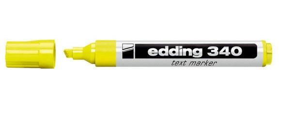 ماژيك هايلايت زرد edding 340 2.5mm 5