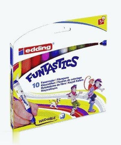 ماژيك 10 رنگ ضخيم edding 14-10 Funtastics