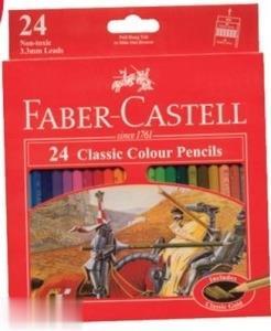 مدادرنگي 24 رنگ مقوايي FABER CASTELL 115854 Classic