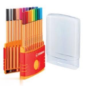 رواننويس 20 رنگ نوك نمدي STABILO 8820-03 Point 88 0.4mm