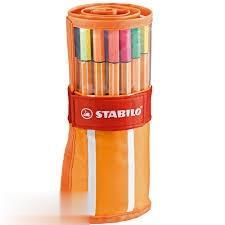 رواننويس 30 رنگ نوك نمدي رولي نارنجي STABILO 8830-2 Point 88