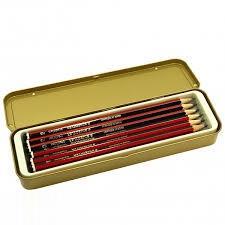ست مداد طراحي HB جعبه فلزي STAEDTLER 110M12H Tradition