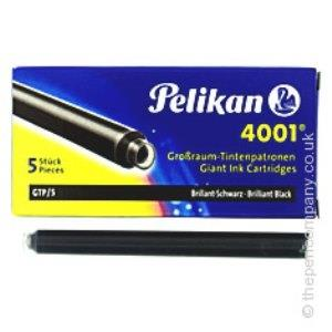 جوهر فشنگي بلند مشكي 5 عددي Pelikan 4001