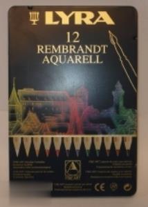 مدادآبرنگي 12 رنگ فلزي LYRA Aquarell