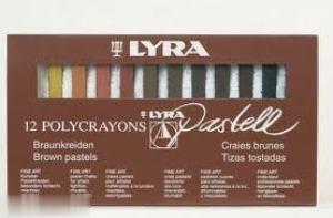 ست گچ پاستل 12 رنگ قهوهاي LYRA 2641 Pashell