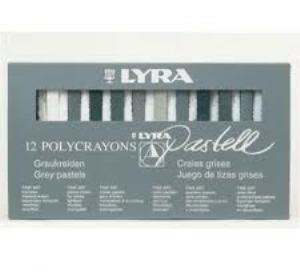 ست گچ پاستل 12 رنگ سياه و سفيد LYRA 2642 Pashell