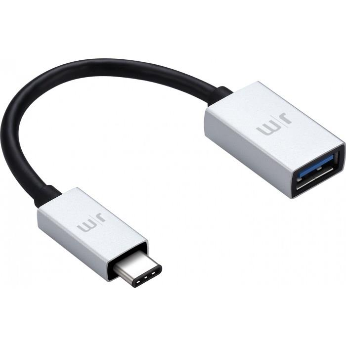 تبدیل 15cm 3A USB-C 3 نقره‌ای just mobile DC-358