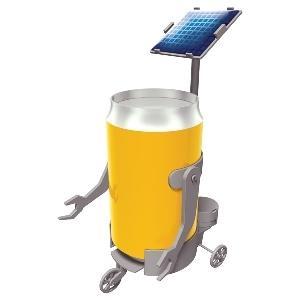 Solar Can Motor Robot EL287
