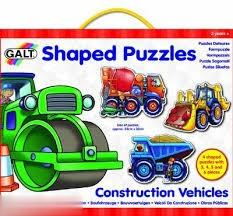 Shaped Puzzles Construction Vehicles A0984A