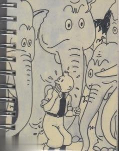 دفتر A6  طرح فيلها