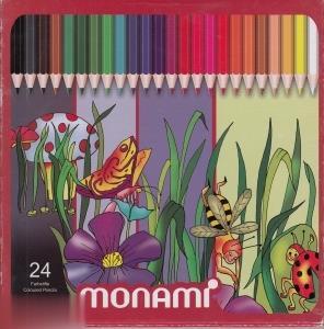 مدادرنگي 24 رنگ مقوايي MonAmi C24