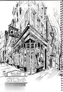 دفتر 100 برگ سيمي وزيري مجلد SIBO Sketch Art