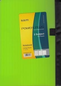 دفتر 100 برگ رحلي sam Power Plus p.p