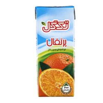 نوشیدنی بدون گاز پرتغال تک گل