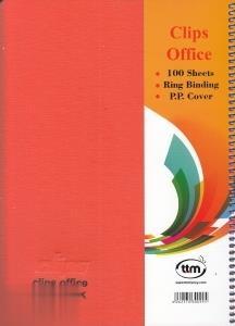 دفتر 100 برگ سيمي وزيري Clips 00995 p.p