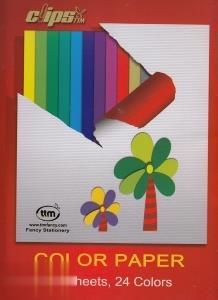 كاغذ رنگي 24 برگ Clips