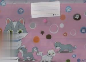 پوشه دكمهدار A4 گربهها ATLAS 1004CK6