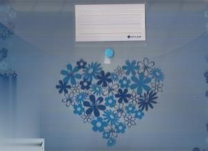 پوشه دکمهدار A4 قلبی آبی ATLAS 1004LB1