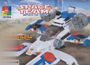 Space Team Bricks Set 5 in 1 308pcs J5725A