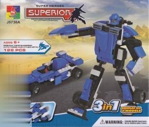 Superior Super Heroes 3 in 1 126pcs J5736A