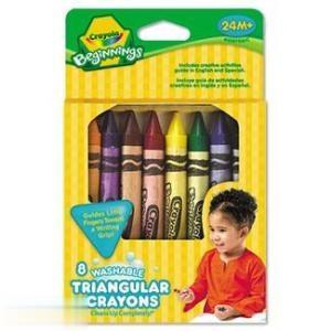 Ct 8 Washable Triangular Crayola 008