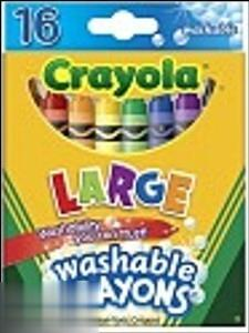 پاستل روغني 16 رنگ Crayola 3281 Ultra Clean Washable