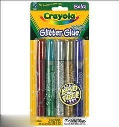 چسب اكليلي 5 رنگ Crayola 3522 Glitter Glue