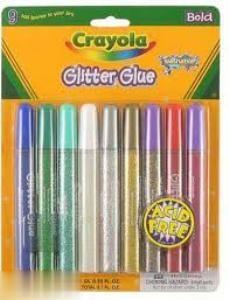 چسب اكليلي 9 رنگ Crayola 3527 Glitter Glue