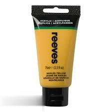 رنگ آكريليك REEVES 8341495 Naples Yellow 75ml