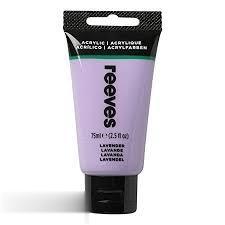 رنگ آكريليك REEVES 8341305 Lavender 75ml