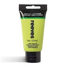 رنگ آكريليك REEVES 8341415 Lime Yellow 75ml