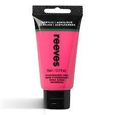 رنگ آكريليك REEVES 8341840 Fluorescent Pink 75ml