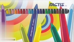 پاستل روغني 24 رنگ مقوايي FACTIS 1174