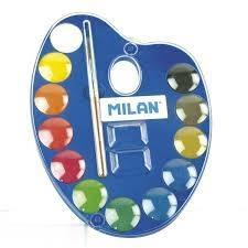آبرنگ 12 رنگ پالتي MILAN 053412
