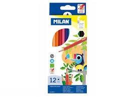 مدادرنگي 12 رنگ مقوايي MILAN 80012