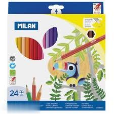 مدادرنگي 24 رنگ مقوايي MILAN 80024