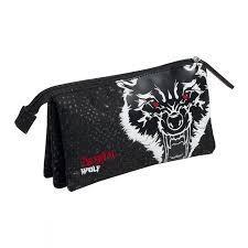 جامدادي تك زيپ 3 لت BUSQUETS 044900 Bestial Wolf