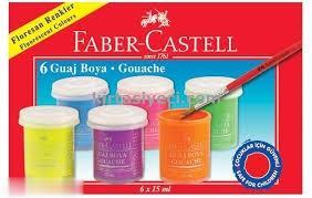 گواش 6 رنگ فسفري FABER CASTELL 160403