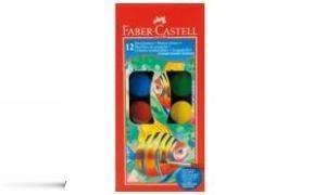 آبرنگ 12 رنگ مقوايي FABER CASTELL 125011