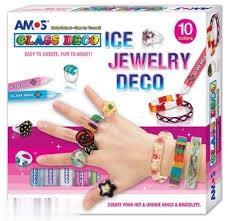 شيشه رنگ 10 رنگ با جواهرات AMOS GD10P10IJ 10ml