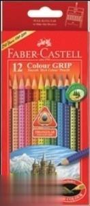 مدادرنگي 12 رنگ مقوايي FABER CASTELL 116252 Grip