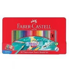 مدادرنگي 60 رنگ فلزي طرح ماهي FABER CASTELL 115964