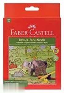 ماژيك 12 رنگ درچسبان طرح جنگل FABER CASTELL 155083