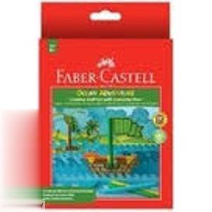 ماژيك 12 رنگ درچسبان طرح اقيانوس FABER CASTELL 155084
