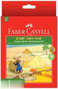 ماژيك 12 رنگ درچسبان طرح بيابان FABER CASTELL 155085